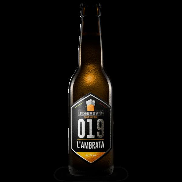 bottiglia birra artigianale 33 cl ambrata