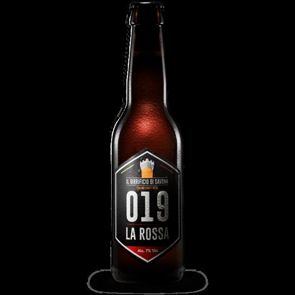 bottiglia birra 33 cl rossa